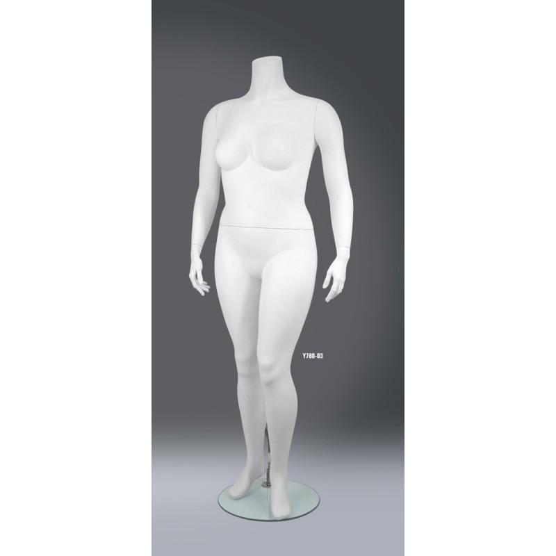 Mannequin vitrine femme sans tête XXXL