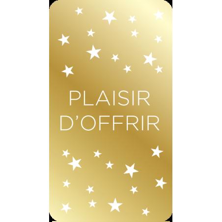 """500 Étiquettes """"Plaisir d'offrir"""" or"""