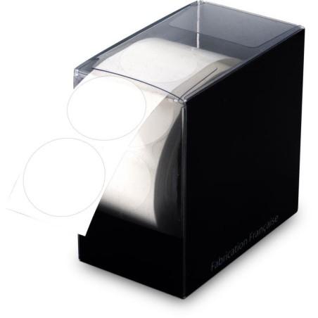 500 Étiquettes transparentes rondes