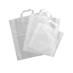 360 sacs anses souples transparents 35+5/5x45 cm