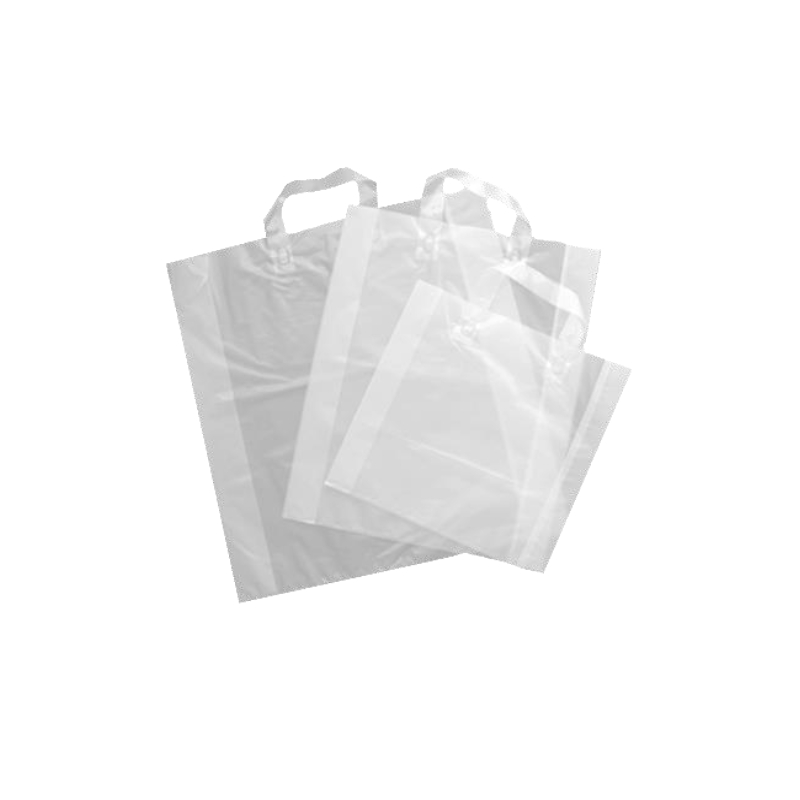 Sac anses souples transparent 32+4/4x30 cm