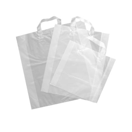 360 sacs anses souples transparents 46+6/6x50 cm