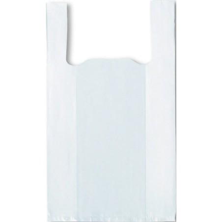 500 sacs réutilisable blancs à bretelles 33+10/10x60 cm