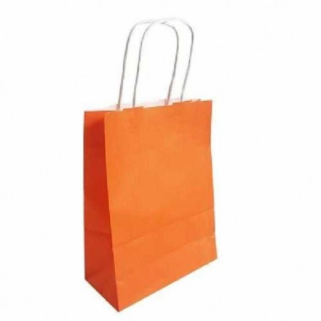 Sac papier kraft Orange L.18xP.8xH.24 cm x50