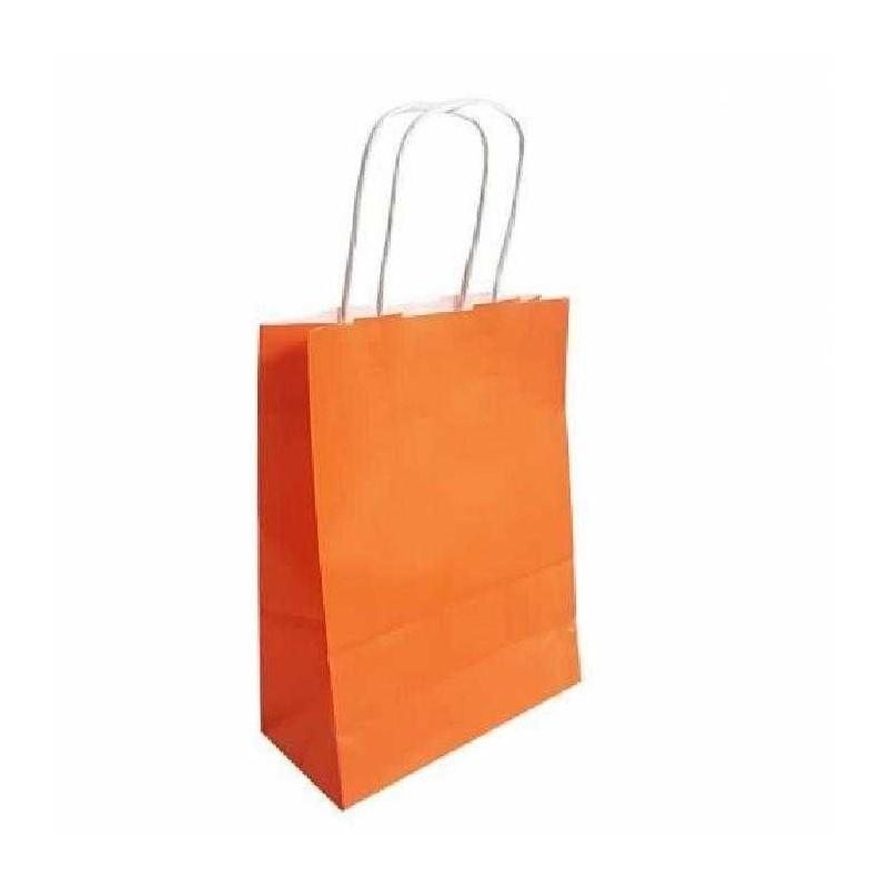 Sac papier kraft Orange L.18xP.8xH.24 cm x50