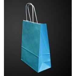 Sac papier kraft Turquoise L.24xP.12xH.31 cm x50