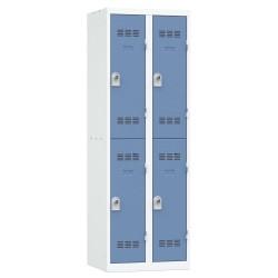 Vestiaire 2 colonnes 2 cases monobloc soudé industrie propre