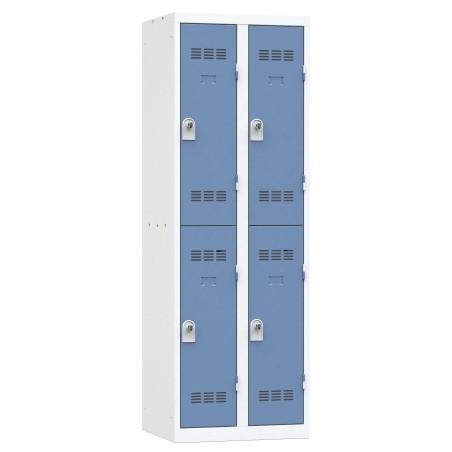Vestiaire 2 colonnes multi cases monobloc soudé