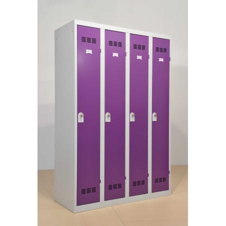 Vestiaire 4 colonnes monobloc soudé industrie propre