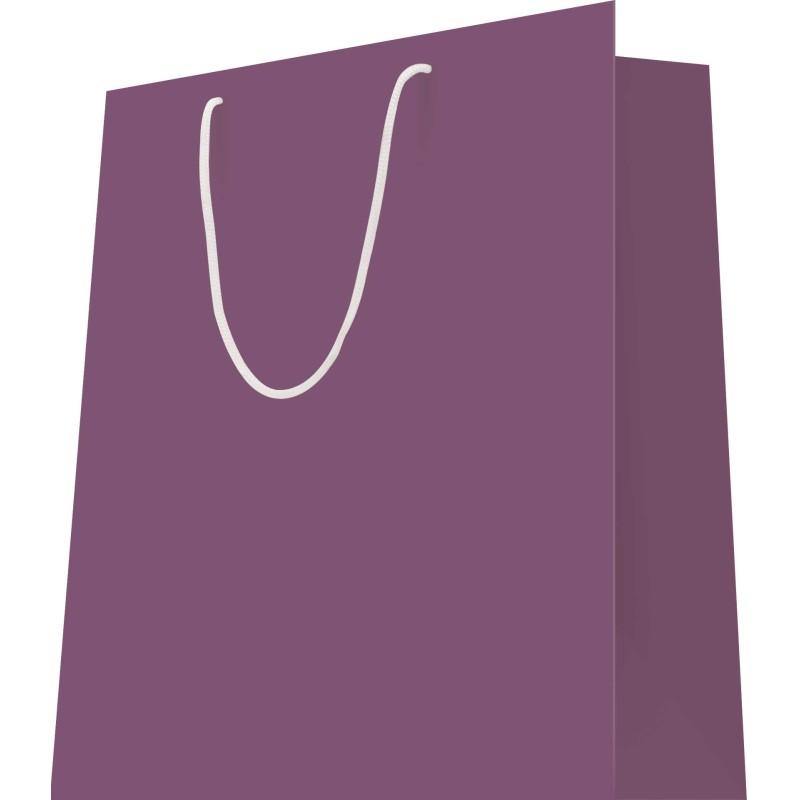20 Sacs cabas luxe L.12xP.7xH.15 cm poignées cordelières violet