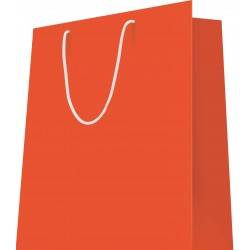20 Sacs cabas luxe L.12xP.7xH.15 cm poignées cordelières orange