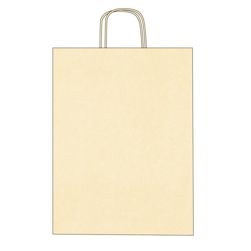 Sac papier personnalisable poignées torsadées