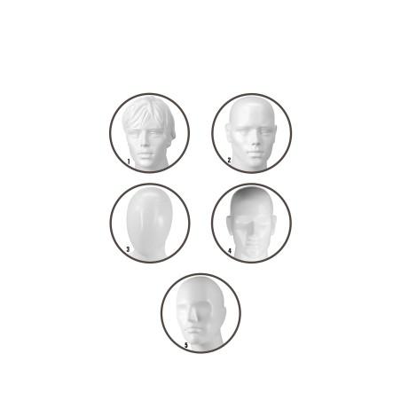 Mannequin vitrine homme blanc tête