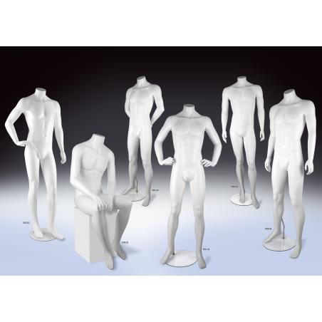 Mannequin vitrine homme blanc sans tête