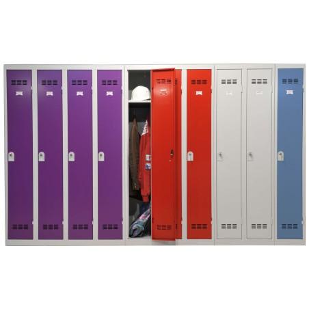 Casier Vestiaire 4 colonnes monobloc soudé industrie propre