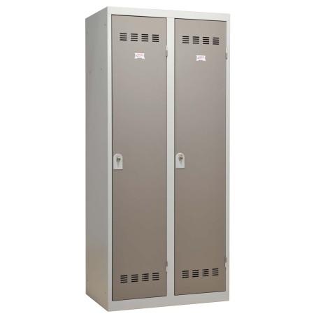 Casier Vestiaire 2 colonnes monobloc soudé industrie salissante 40 cm