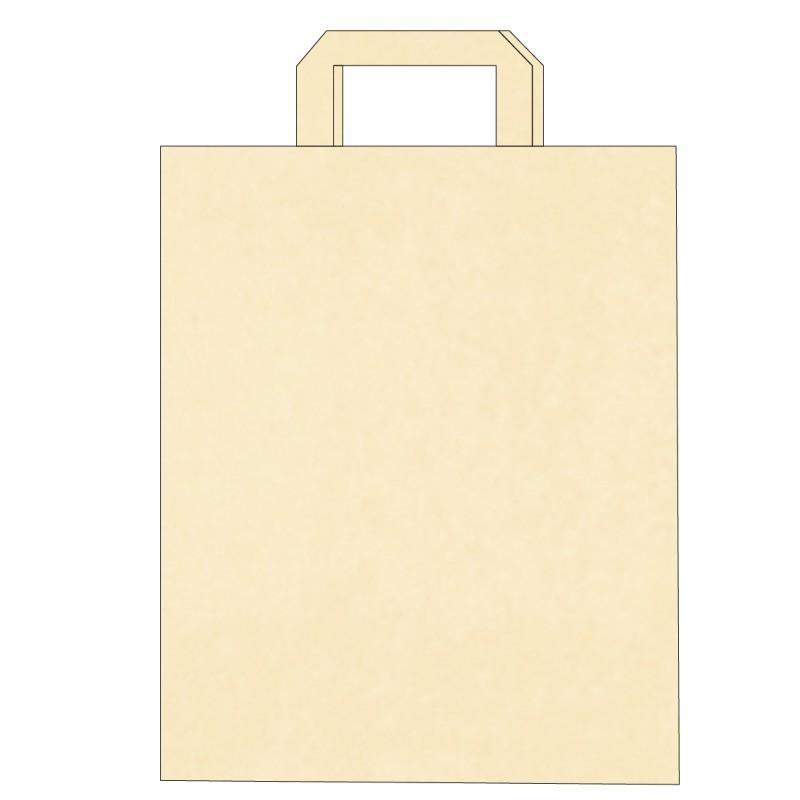 Sac papier kraft poignées plates personnalisé à partir de 0.16 € HT