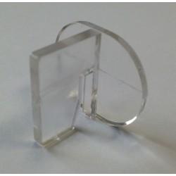 Clip de fixation simple fond lamé pour crémaillère x10