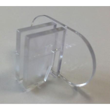 Clip de fixation double fond lamé pour crémaillère x10