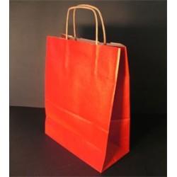 Sac papier kraft rouge 18x8x24 cm x50