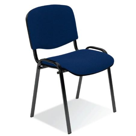Chaise Iso black tissu bleu