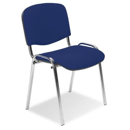 Chaise Iso Epoxy alu tissu bleu