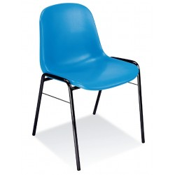 Chaise Beta monocoque bleu
