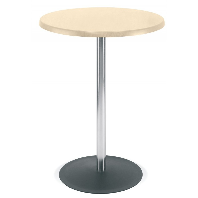 Table mange debout h tre naturel cm base en acier - Mange debout avec rangement ...