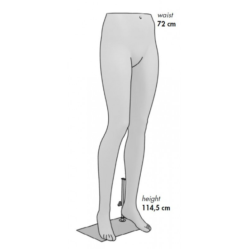 Jambes Femme noir métallisé