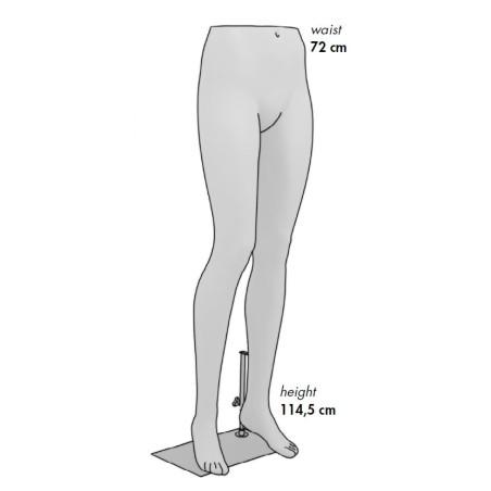Jambes Femme gris alu