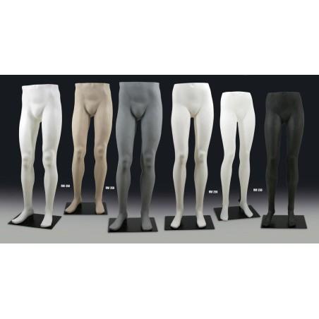 Jambes Homme noir métallisé