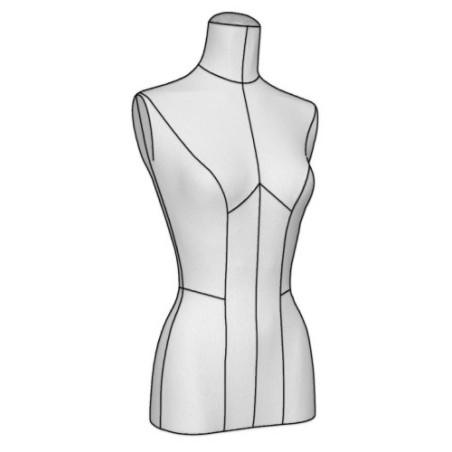 Buste couture Femme médium tissu Jersey Beige