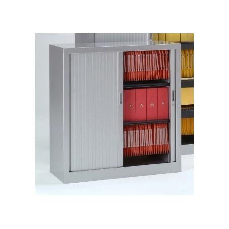 Armoire monobloc portes à rideaux H.100 cm