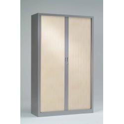 Armoire monobloc Bi-couleur portes à rideaux H.198 cm