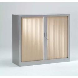 Armoire monobloc Bi-couleur portes à rideaux H.100 cm