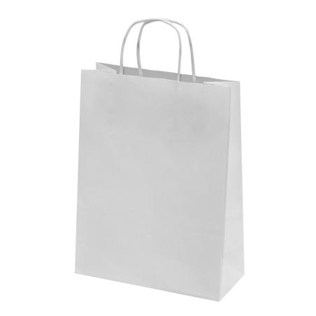 Sac papier kraft blanc 18x8x24 cm x50