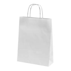 Sac papier kraft blanc 24x12x31 cm x50
