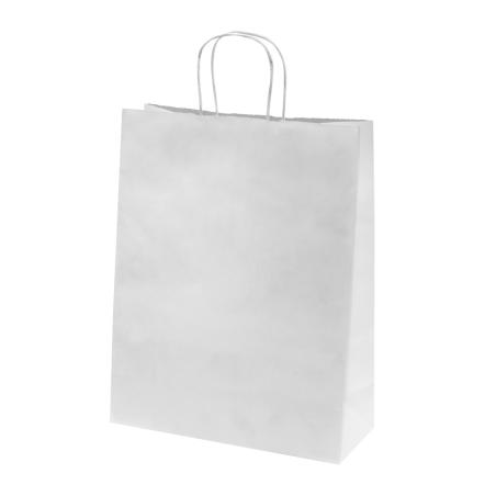 Sac papier kraft blanc 35x14x44 cm x50