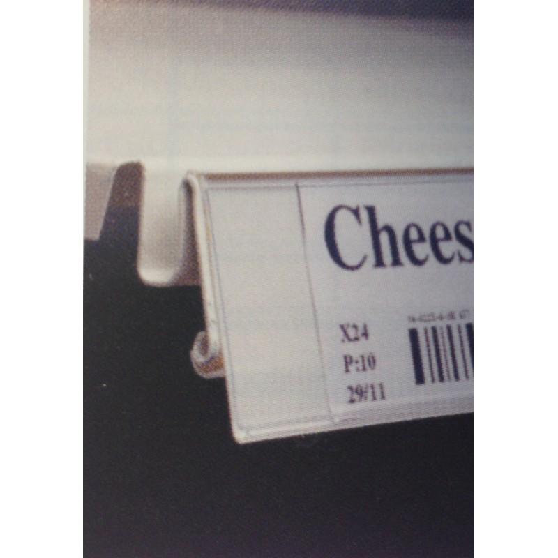 Porte-étiquette L.100 cm pour tablette Tegometall