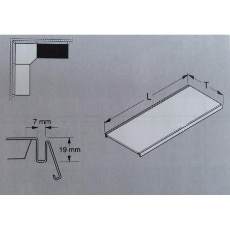 Tablette en acier L.100 P.47 cm