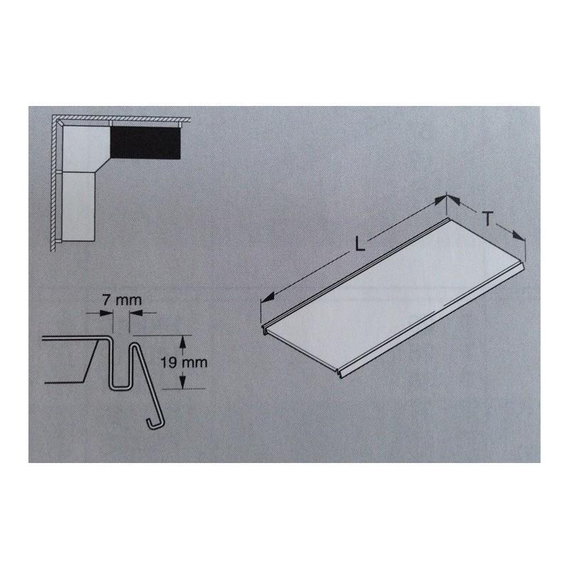 Tablette en acier L.100 P.37 cm