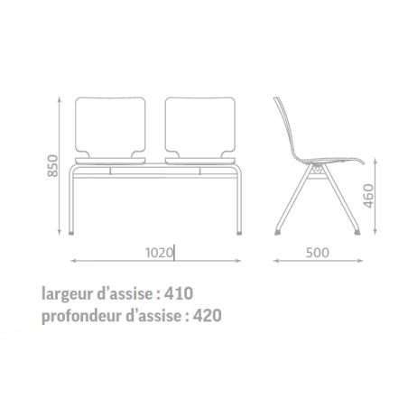 Chaise Axo par 2 hêtre multiplis