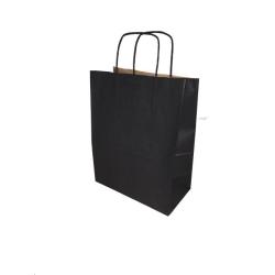 Sac papier kraft Noir L.24xP.12xH.31cm x50