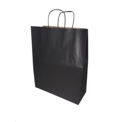 Sac papier kraft Noir L.35xP.14xH.44 cm x50