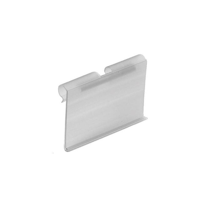 Porte-étiquette fil t transparent 40x65 mm