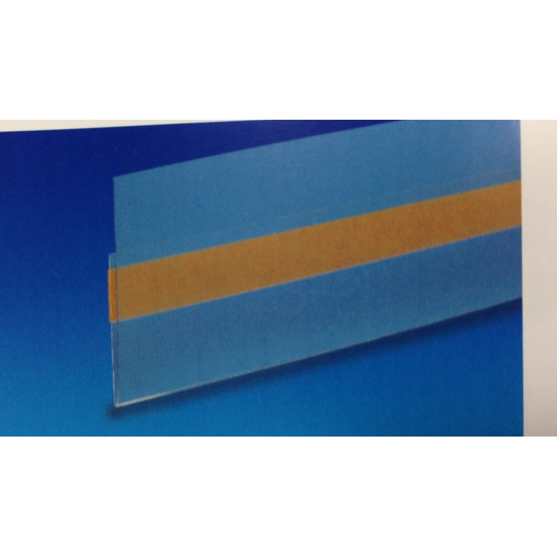 Porte-étiquette adhésif transparent 100x4 cm