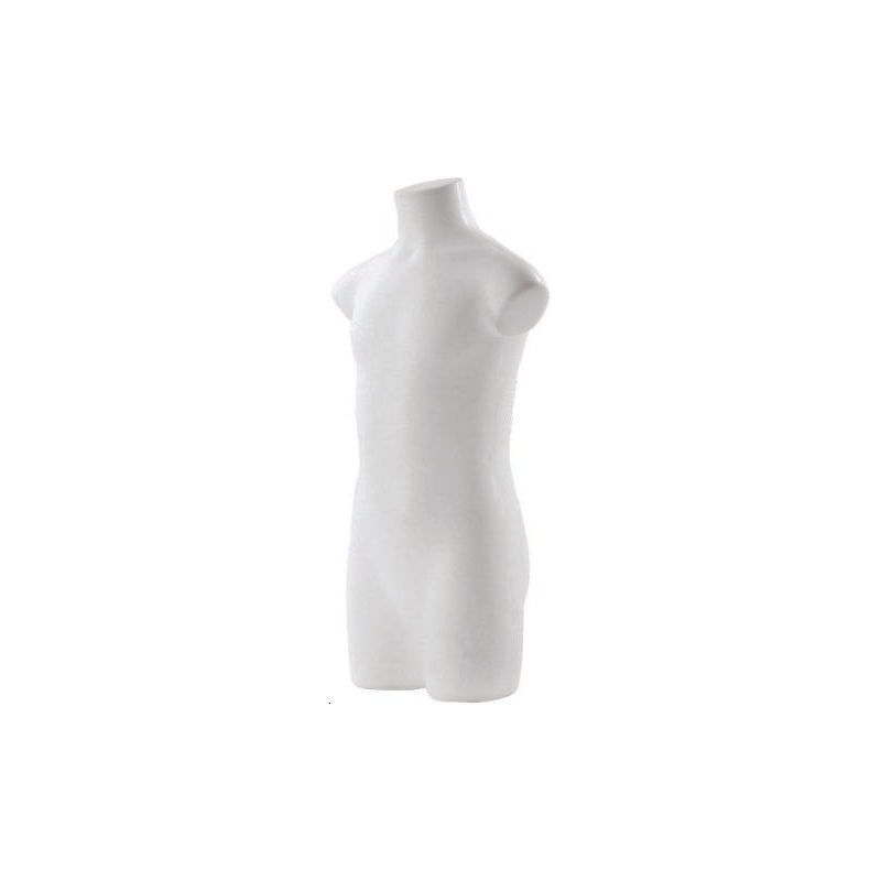 Buste enfant 7/8 ans torso pvc blanc