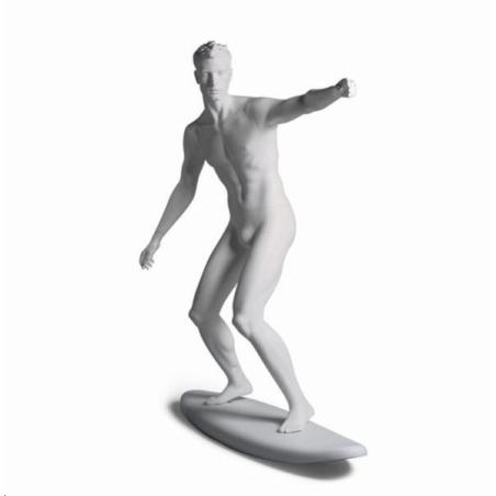 Mannequin sportif homme surfeur blanc