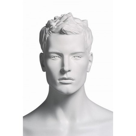 Mannequin sportif homme acrobate blanc