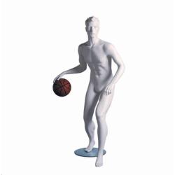 Mannequin sportif homme basketteur blanc